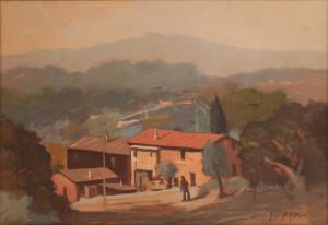 Alfonso Papi – Tramonto toscano