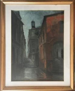 Aurelio Barbalonga – Scorcio senese