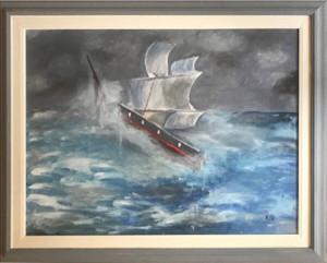 Ciro Improta – Veliero in gran tempesta