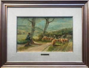 Tommaso Cascella – Pastore con pecore