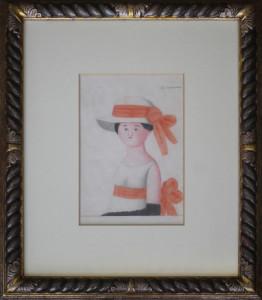 Antonio Bueno – Donna con cappellino