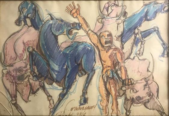 Artista sconosciuto – Cavalli e tori