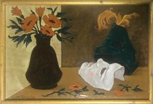 G. De Angelis – Vaso di fiori con maschera