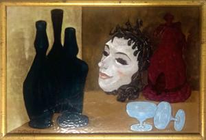G. De Angelis – Bottiglie con maschera