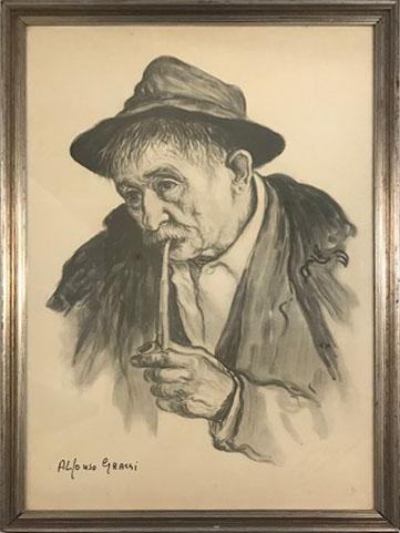Alfonso Grassi – Uomo con pipa