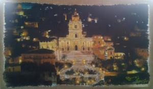 Maurizio Scrofani – Modica, San Giorgio di notte