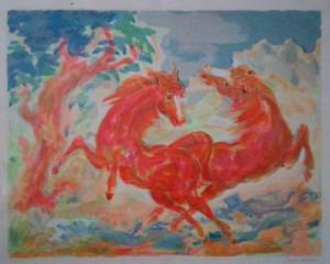 Aligi Sassu – Cavalli selvaggi