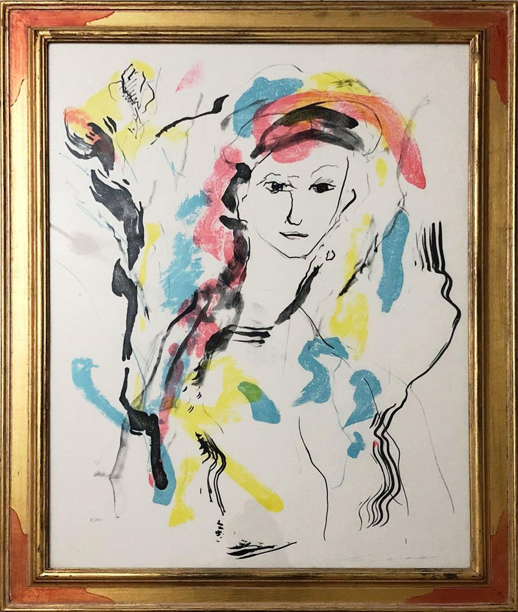 Ernesto Treccani – Volto con fiore