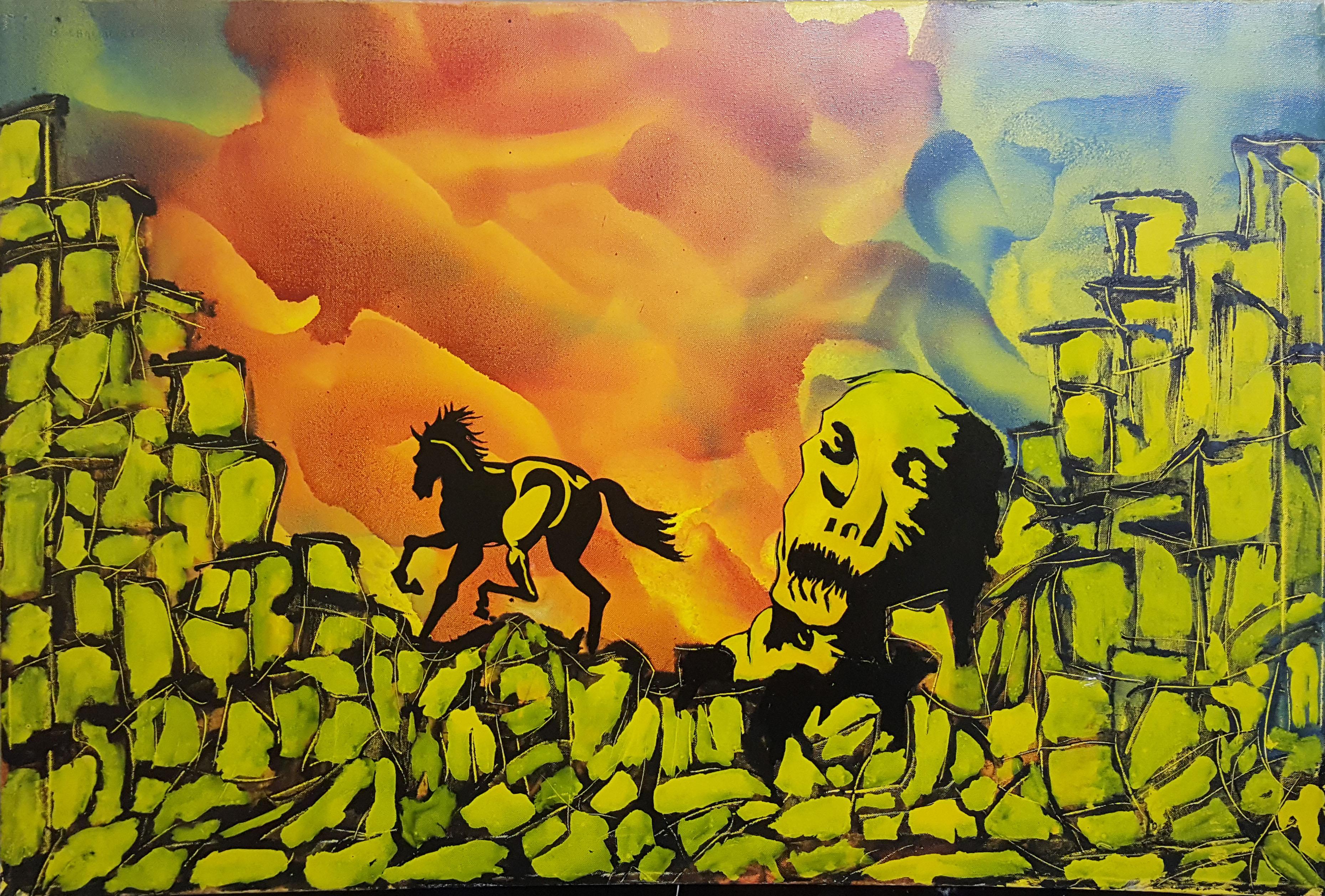 Basilio Chalkidiotis – Cavallo con teschio