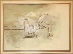 Sergio Vacchi – Donna e cavallo di Finisterre