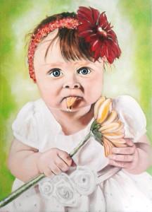 Rosa Benato – Bimba con fiore