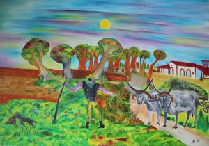 Giorgio Donabello – Casa rurale con contadino