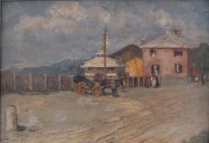 Attilio Pusterla – Stazione ferroviaria in riviera ligure