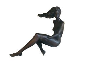 Sergio Capellini – Donna seduta al vento