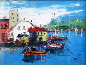 Giuseppe Viola – Golfo con barche
