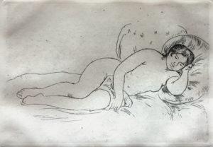Pierre-Auguste Renoir – Femme nue couchee