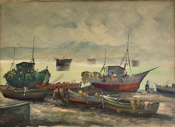 S. Castellani – Barche in secca