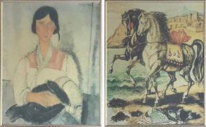 Riproduzione da Amedeo Modigliani , Giorgio de Chirico – Dittico – Senza titolo