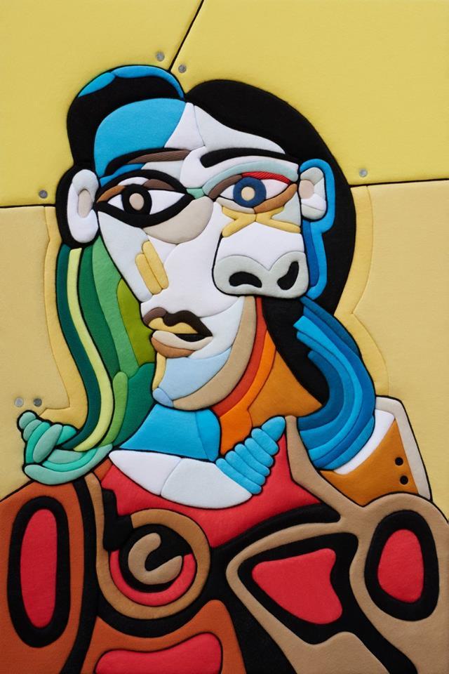 Stefano Bressani – Ritratto di donna – Omaggio a Picasso