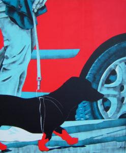 Daniela Caciagli – Mondo in rosso (il cane con gli stivali)