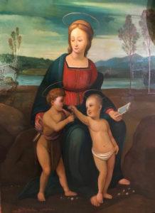 Ciro De Michele – Madonna del Cardellino (copia da Raffaello)