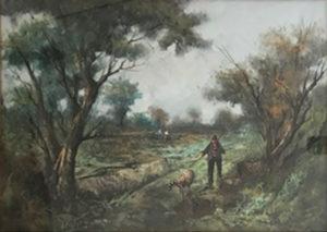 Raffaele Maietta – Paesaggio con cacciatore