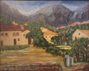 Giacoma Nocera – Casolare con montagne