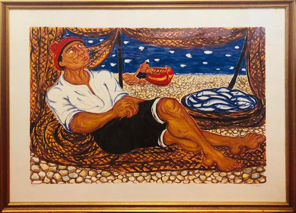 Giuseppe Migneco – Riposo del pescatore