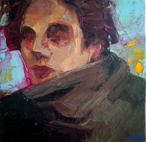Aquaro Linda – Donna con sciarpa