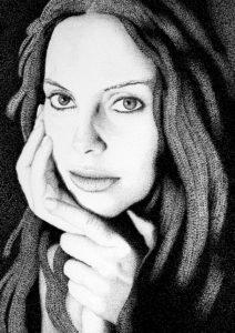 Salvatore Romano – Donna con viso appoggiato tra le sue mani
