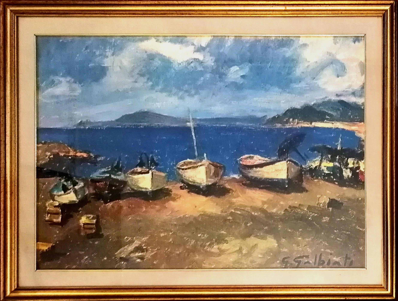 Giacinto Galbiati – Barche in riva