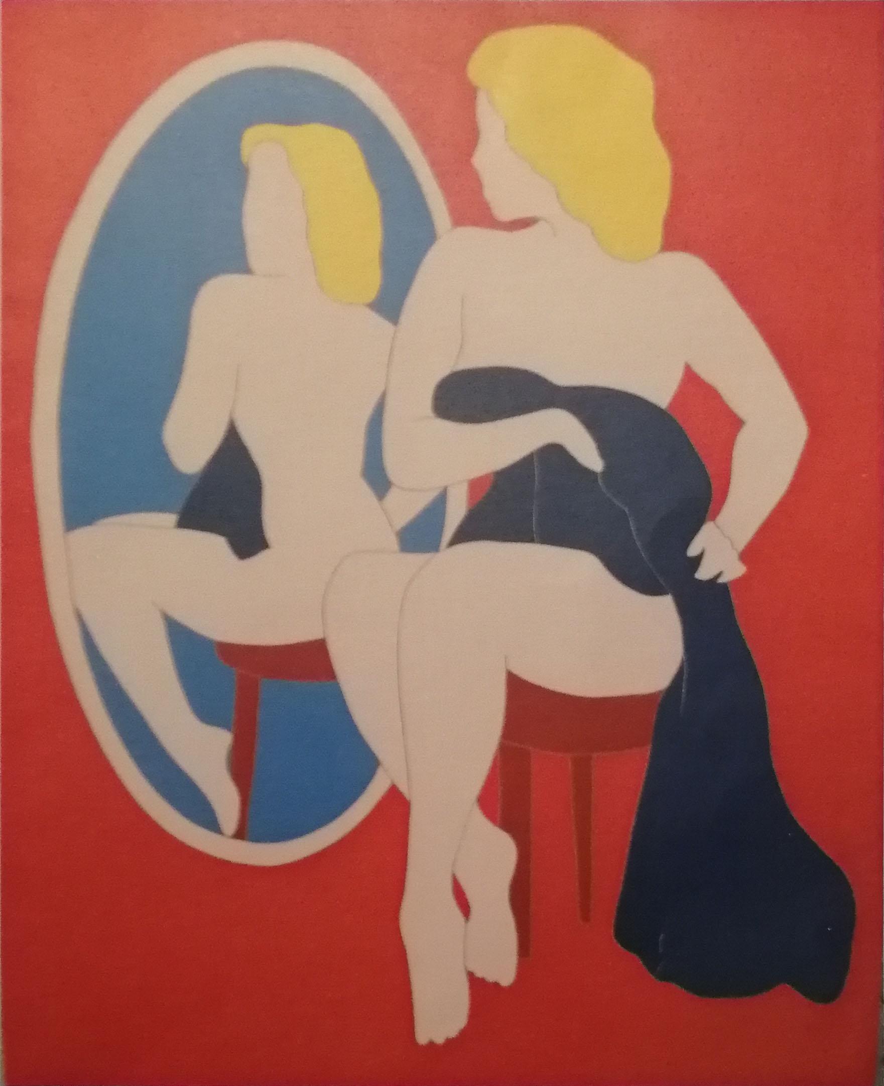 Marco Lodola – Donna allo specchio