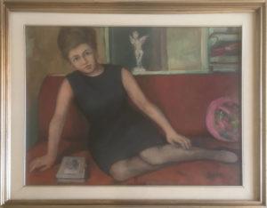 A. Perazzini – Donna sul divano
