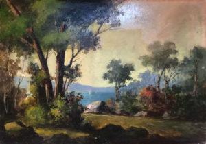 Magrotti – Pineta con lago con barche a vela