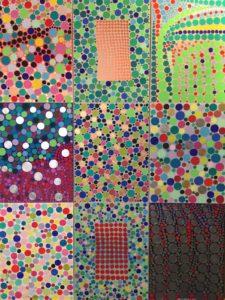 Paola Magrini  – Trittico, tavola cromatica numero 8