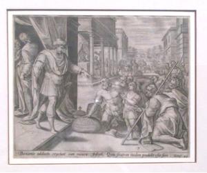 Artista sconosciuto – Incisione di una Bibbia tedesca