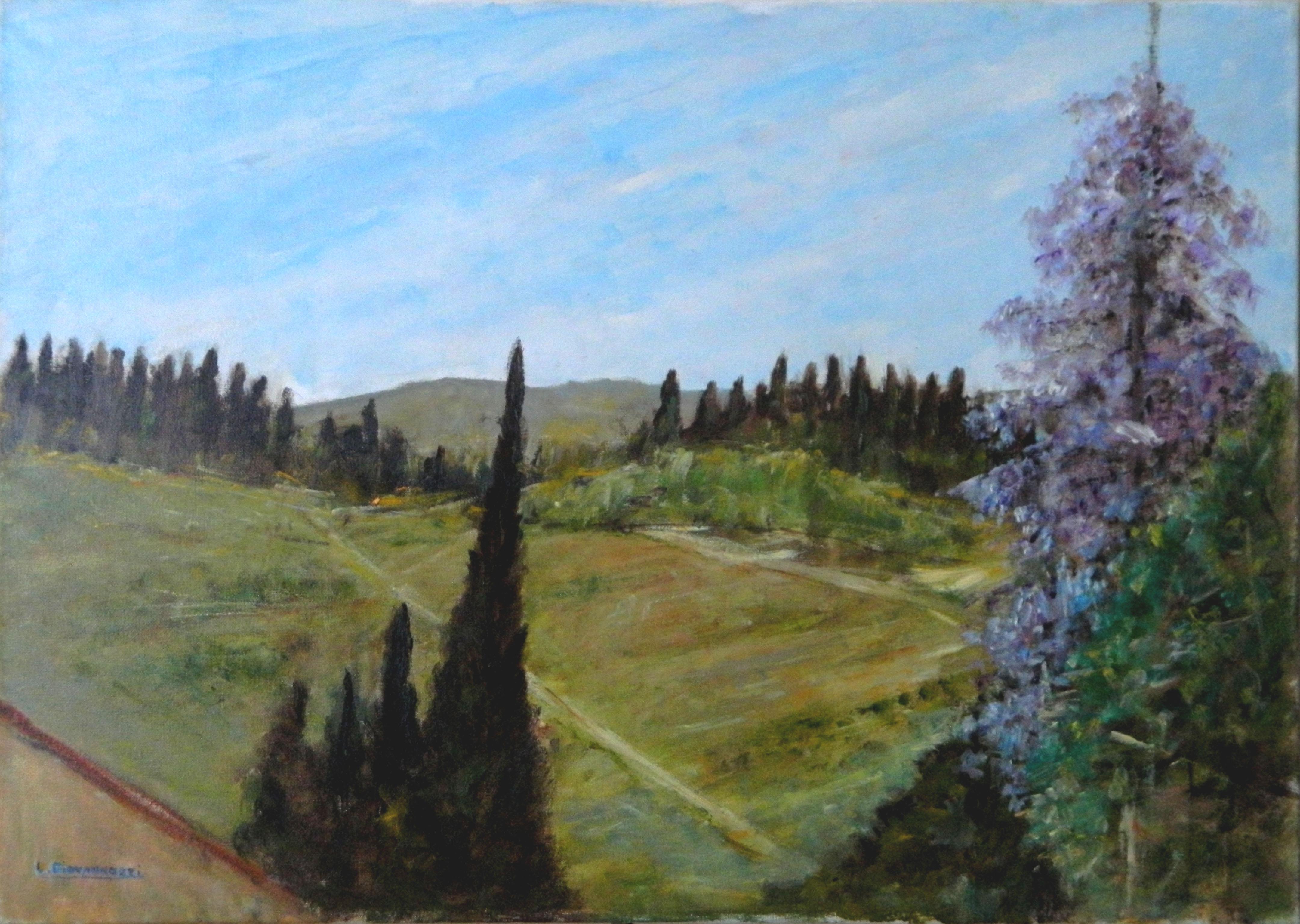 Luciano Giovannozzi – PAESAGGIO TOSCANO (LOC. STRADA IN CHIANTI – FI)
