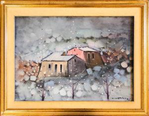 Ottavio Carboni – Paesaggio invernale sardo