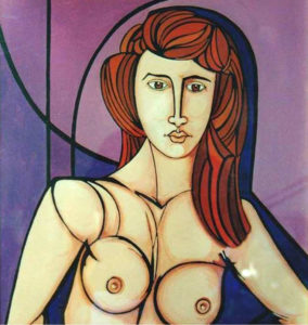 Billeri Sergio – Nudo su fondo viola