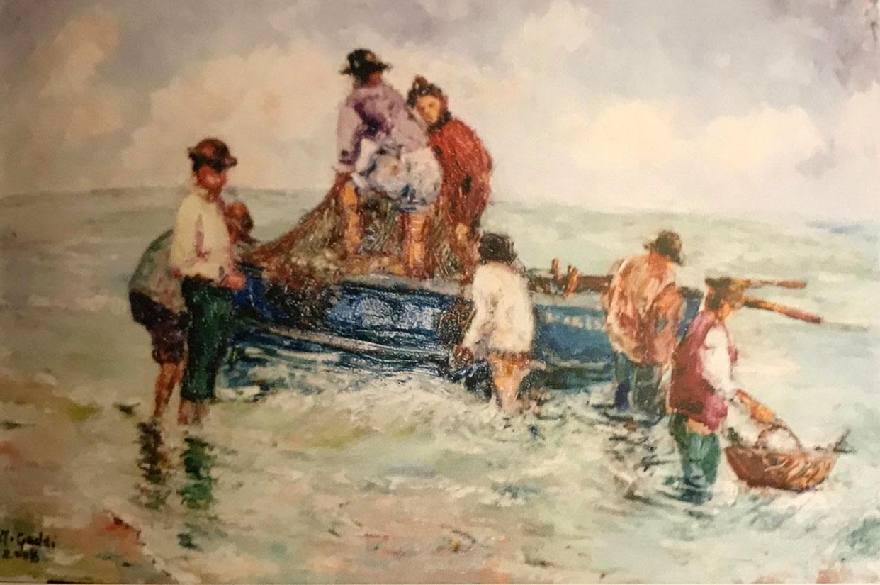 Maria Gloria Gaddi – Antica scena di pesca
