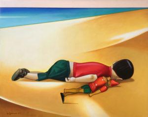 Gianfranco Giannoni – Bambino addormentato con pinocchio
