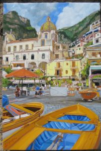 Michele Santonastaso – Positano – boats on the sand