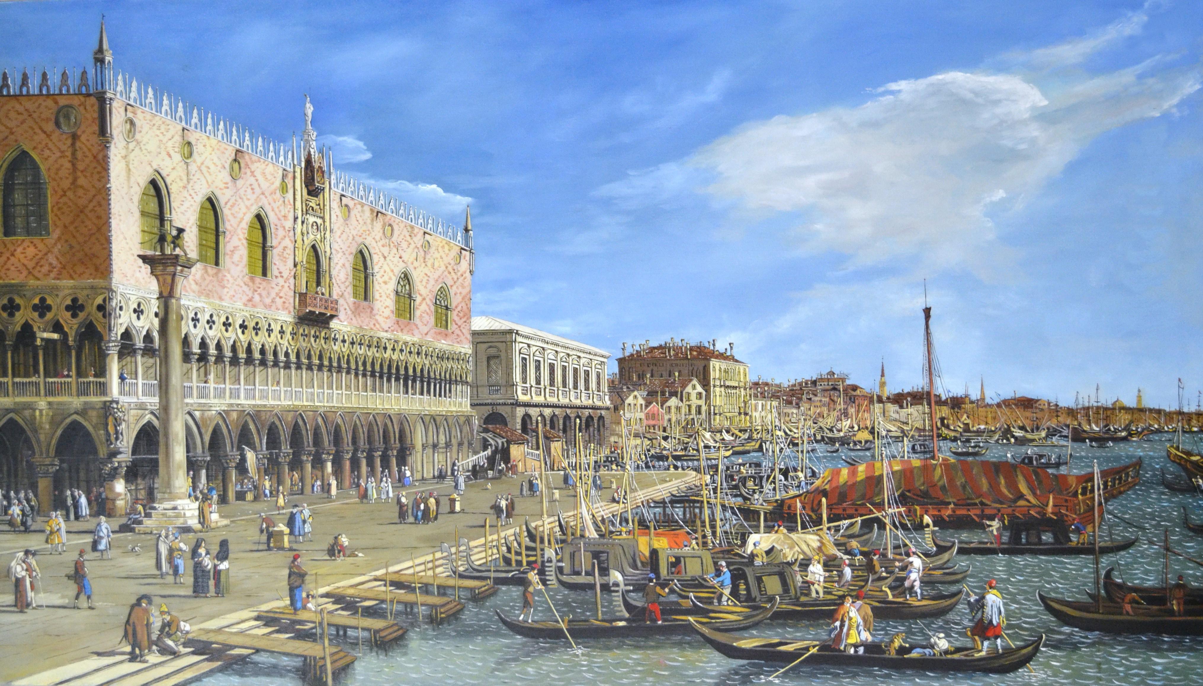 Michele Santonastaso – Venezia-Palazzo Ducale e Riva degli Schiavoni