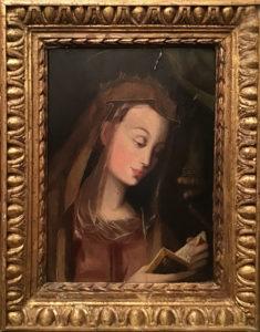 Artista sconosciuto – Figura di santa