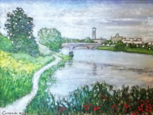 Luca Campaini – Veduta del Bisenzio a Prato