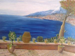 Stracuzzi Natale – Veduta dell'etna dai giardini Naxos