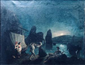 Artista sconosciuto – Marina di notte