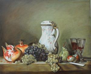 DearLife – Omaggio a Chardin – Uva e melograni
