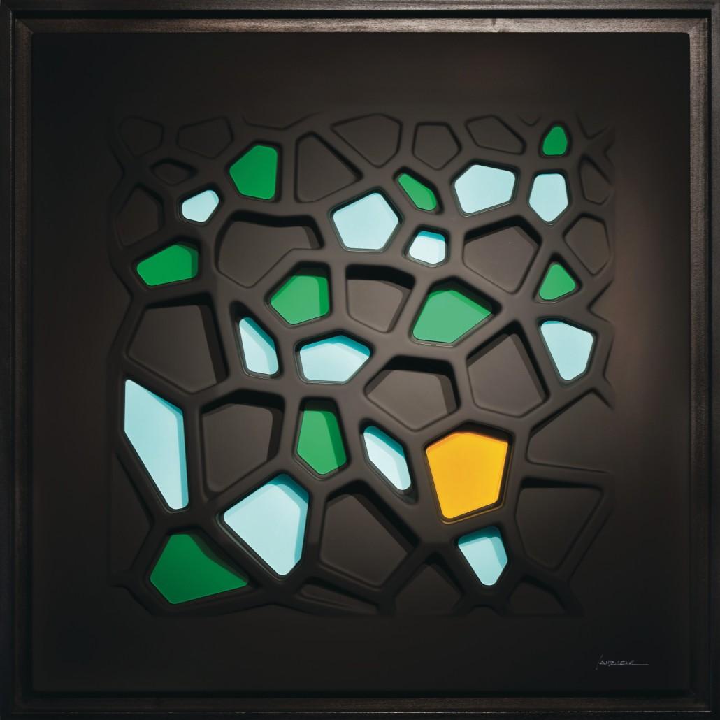 Giuseppe Santalena – Pentagon Black green e acquamarine