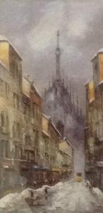 Eugenio Mantegani – Scorcio del duomo